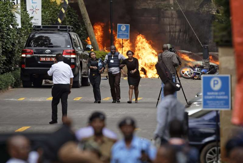 Extremists attack upscale hotel complex in Nairobi