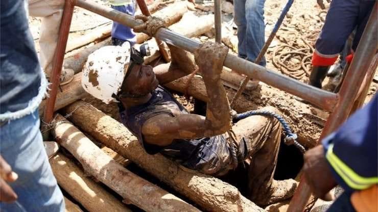 Flooded Zimbabwe mine